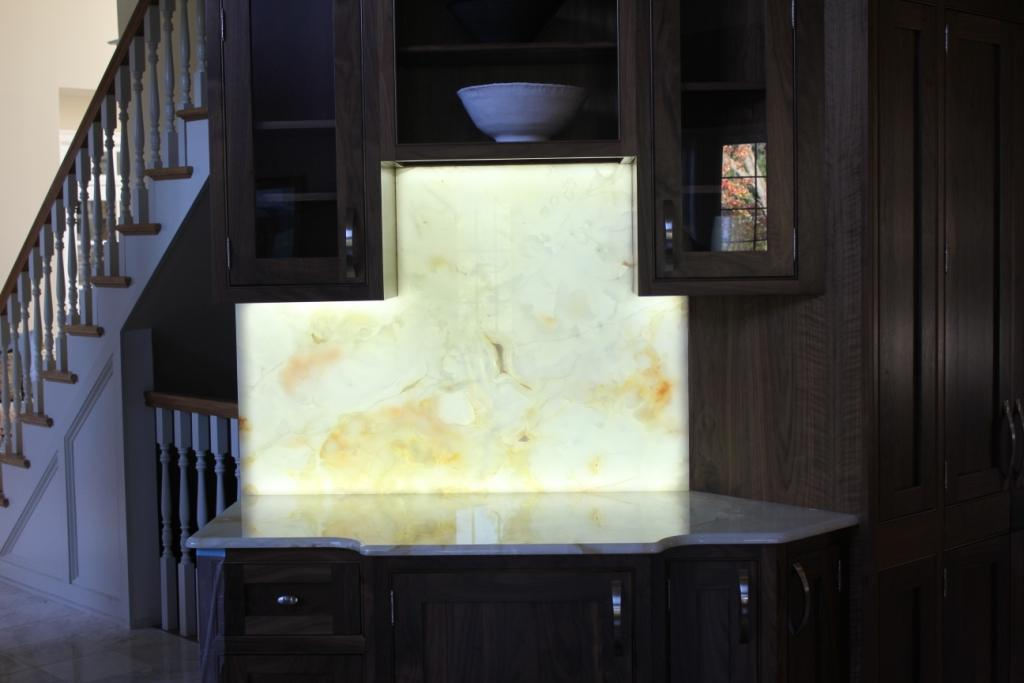 Chandler Construction Backlit Stone Sample Materials And